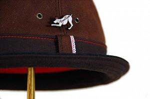 Brown Denim Rollup Hat
