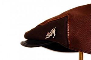 Brown Denim Flat Cap